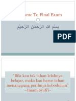 Welcome to Final Exam ETP 1
