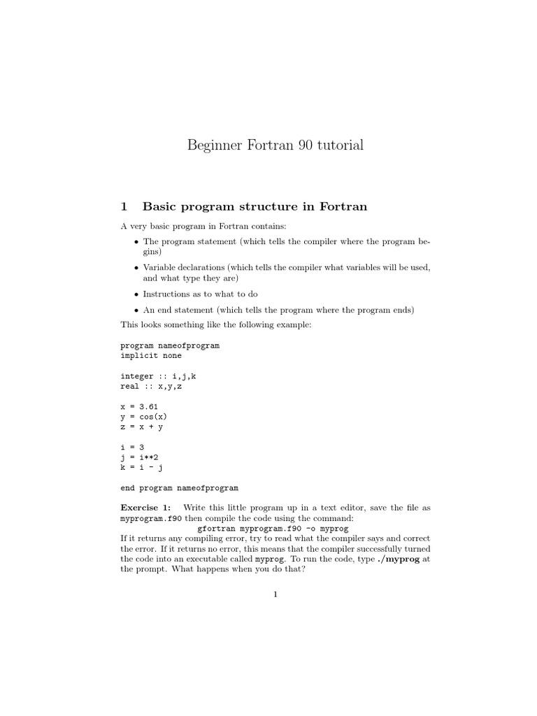 Fortan90 pdf   Subroutine   Parameter (Computer Programming)