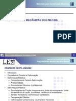 Sup04 Propriedades Mecânicas Dos Metais