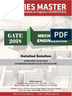 GATE 2018 Mechanical Engineering 03-02-2018 Afternoon Session Detailed Solution