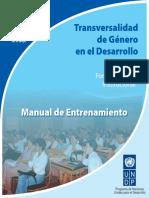 Transversalidad de Genero en El Desarrollo