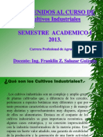 Clase I Introduccion Cultivos Industriales Franklin