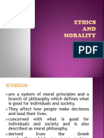 Ethics Ethics and Morality