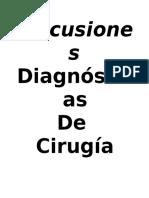 Discusiones Diagnósticas de Cirugía