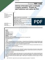NBR 14486 Sistemas Enterrados Para Condução de Esgoto Sanitário - Projeto de Redes Coletoras Com Tubos de PVC