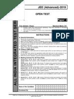 Aiits 1719 Open Test Jeea Paper 2