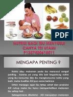 Lembar Balik Nutrisi Bagi Ibu Menyusui