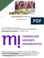 El Juez Investiga a Referentes Del Feminismo Por Denuncias Falsas _ La Gaceta