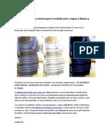 La Explicación Para El Vestido Azul-negro_blanco-dorado