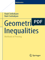 (Problem Books in Mathematics) Hayk Sedrakyan, Nairi Sedrakyan (Auth.)-Geometric Inequalities_ Methods of Proving-Springer International Publishing (2017)