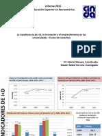 La Transferencia de I D La Innovación y El Emprendimiento en Las Universidades Rafael Herrera Universidad de Costa Rica