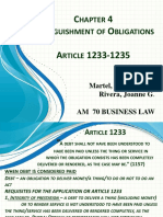 Chapter 4 Extinguishment of Obligations