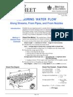 501400-1 Measuring Water Flow