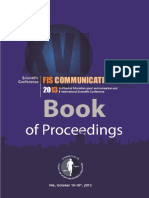 Zbornik Fis Communications 2013