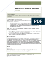 Cannabis Legalization - City Bylaw Regulation