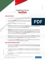 Condiciones de Uso DaviPlata 14092017