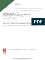 Fritz Von K. - ΝΟΥΣ, Noein, And Their Derivatives in Pre-Socratic Philosophy (Excluding Anaxagoras) Part 2