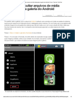 Saiba Como Ocultar Arquivos de Mídia Indesejados Da Galeria Do Android