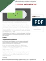 6 Maneiras de Economizar a Bateria de Seu Smartphone