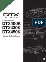 Yamaha dtx450 manual