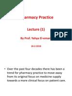 Pharmacy Practice Lec1