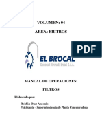 Manual de Operaciones Filtros