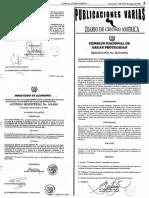 Resolución SC-15-2006 Listado de Especies Amenazadas de Extinción