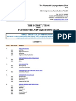 The Constitution of the Plymouth Laryngectomy Club (PLC)
