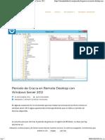 Periodo de Gracia en Remote Desktop Con Windows Server 2012