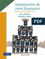 Administración de recursos humanos Enfoque latinoamericano  5ta Edicion