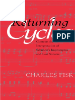 (California Studies in 19th Century Music 11) Charles Fisk-Returning Cycles_ Contexts for the Interpretation of Schubert's Impromptus and Last Sonatas -University of California Press (2001)