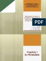 Determinación de valores de hemoglobina y hematocritos en adolescentes en el Municipio Libertador del Estado Mérida