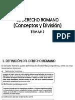 Tema# 2 El Derecho Romano