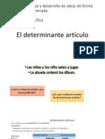 El Artículo Determinante