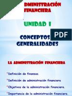 1. Generalidades e Importancia Admón. Financiera