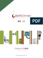 Catalogue Tarif 2015. Prix Publics Au 1 Er Janvier 2015. Www.selfclimat-morvan.com