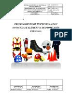 Ssa.pepp.017. Procedimiento de Inspección, Uso y Dotación de Elementos de Protección Personal