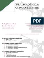 Gallardo. Escritura Académica Para Investigar Mejor. Presentación.