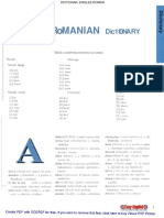 Dictionar Englez Roman