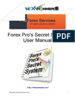 Forex Pros Secret System User Manual