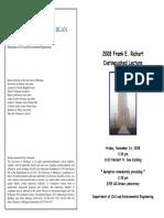 Richart Lecture Flyer 2008