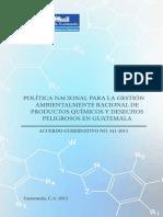 12 Política Nacional de Productos Químicos