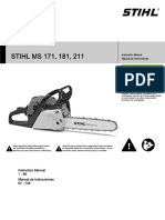Stihl Ms 171 181 211 Owners Instruction Manual