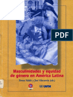 Teresa Valdez y José Olavarria Masculinidades y Equidad de Género en América Latina