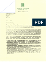 Letter from European Research Group to PM May