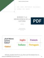 Borges y La Neurociencia de La Lectura