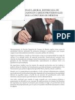 Noticia Estabilidad Laboral Prepensionados