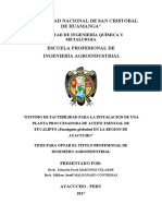 Tesis Estudio de Factibilidad Planta Procesadora de Aceite de Eucalipto Sunedu