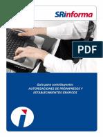 Guia Para Contribuyentes Autorizaciones Preimpresas y EGS