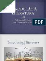 INTRODUÇÃO À LITERATURA Texto Literário e Não Literário